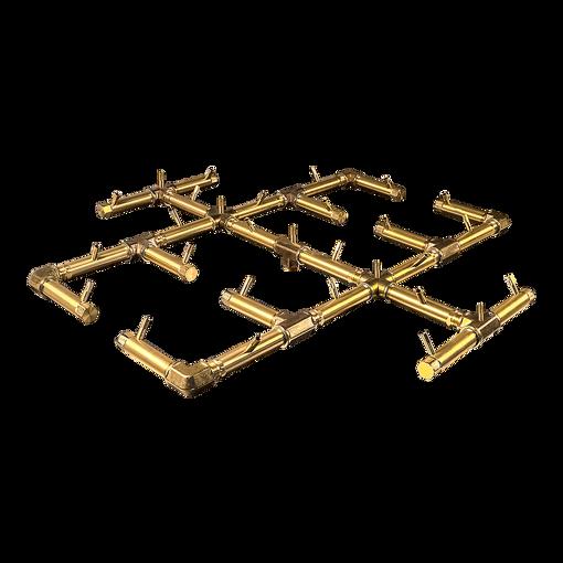 "Picture of CFB350 Original CROSSFIRE Brass Burner + 48"" Square Plate + 3/4"" Dual Flex Line Kit + KIT300"