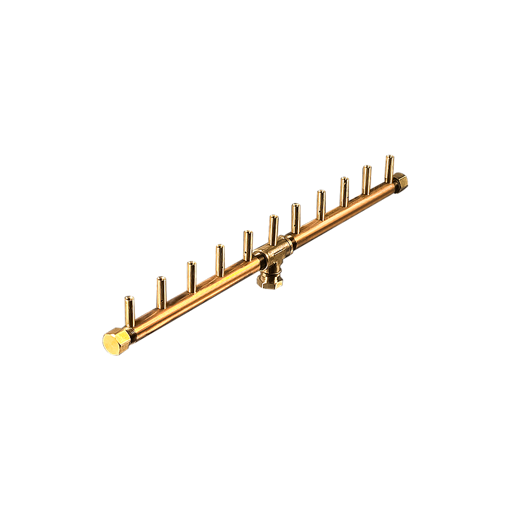 "Picture of CFBL110 Linear CROSSFIRE™ Brass Burner + 1/2"" Flex Line Kit"