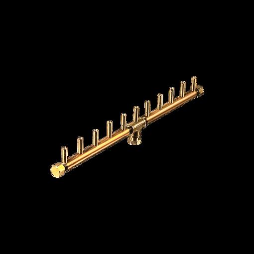 "Picture of CFBL110 Linear CROSSFIRE™ Brass Burner + 6"" x 26"" Plate + 1/2"" Flex Line Kit"