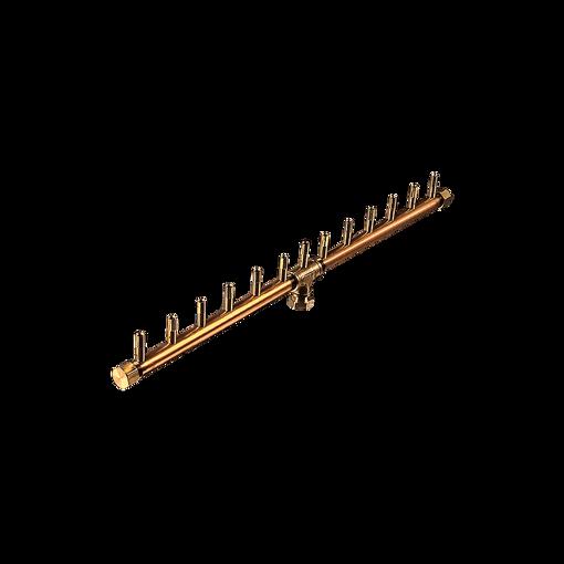 "Picture of CFBL130 Linear CROSSFIRE™ Brass Burner + 3/4"" Flex Line Kit + FIT180"