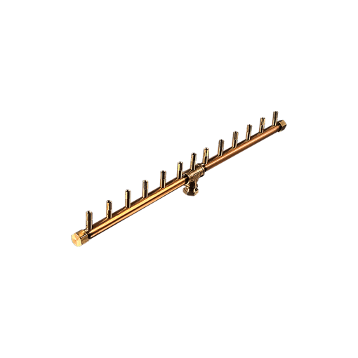 "Picture of CFBL130 Linear CROSSFIRE™ Brass Burner + 8"" x 22"" Plate"