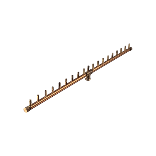 """Picture of CFBL190 Linear CROSSFIRE™ Brass Burner + 8"""" x 44"""" Plate"""