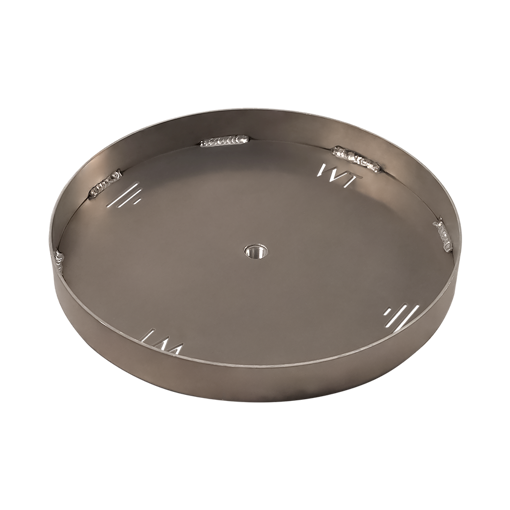 "Picture of 18"" Circular 1/8"" Aluminum Pan with Welded 2"" Sidewall"