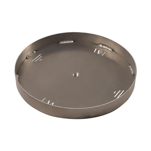 "Picture of 60"" Circular 3/16"" Aluminum Pan with Welded 2"" Sidewall"