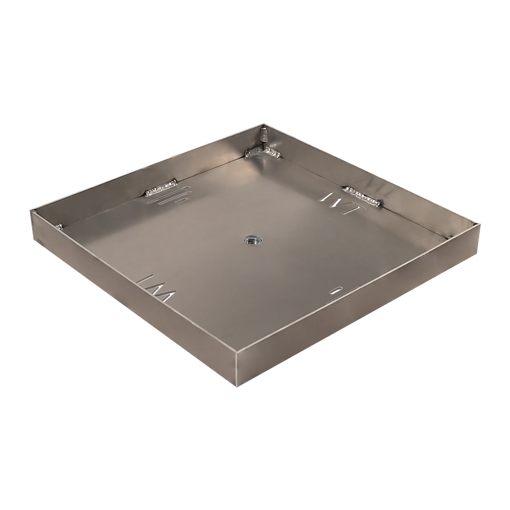 """Picture of 30"""" Square 1/8"""" Aluminum Pan with Welded 2"""" Sidewalls"""
