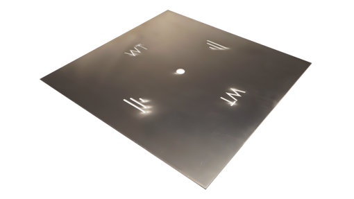 """Picture of 18"""" Square 1/8"""" Aluminum Plate"""