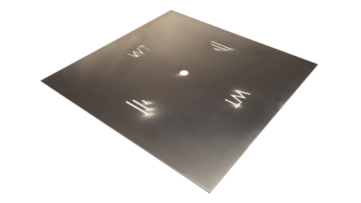 "Picture of 48"" Square 3/16"" Aluminum Plate"
