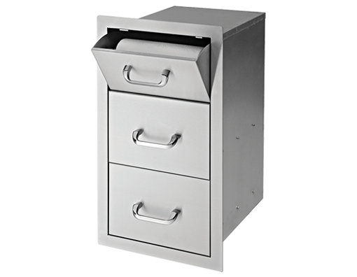 """Picture of 17"""" Delsol Paper Towel 2-Drawer Combo"""