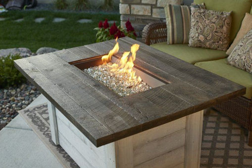 Picture of Alcott Rectangular Gas Fire Table by The Outdoor Greatroom Company