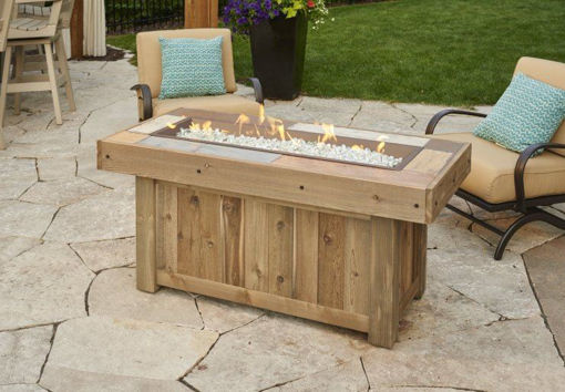 Picture of Vintage Linear Gas Fire Pit Table by The Outdoor GreatRoom Company