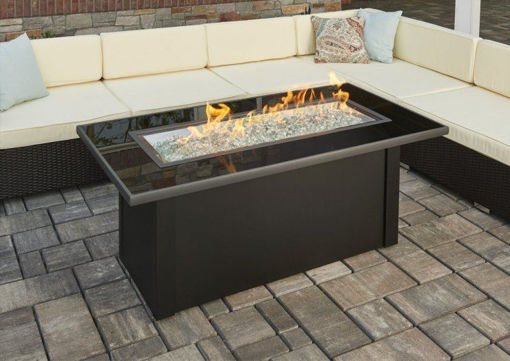 Picture of Monte Carlo Linear Gas Fire Pit Table by The Outdoor Greatroom Company