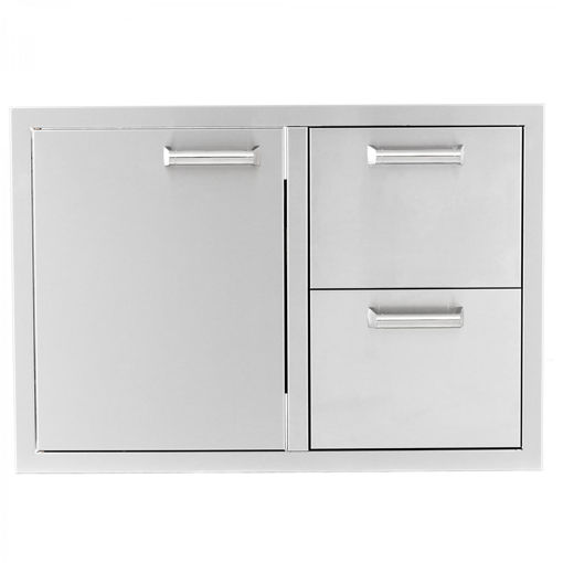 "Picture of PCM‐350H 30"" SINGLE DOOR/ 2 DRAWERS"