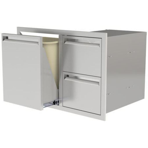 "Picture of PCM‐350 30"" TRASH/PROPANE ROLLOUT/ 2 DRAWERS"