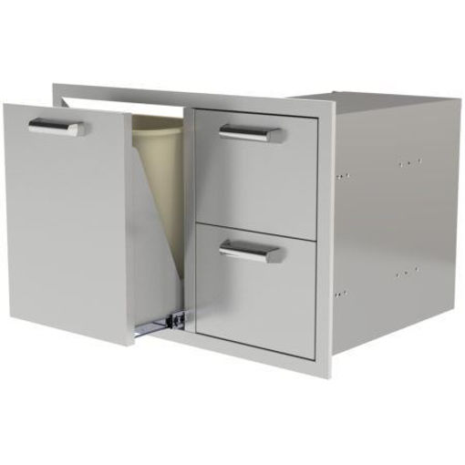 "Picture of PCM‐350H 30"" TRASH/PROPANE ROLLOUT/ 2 DRAWERS"