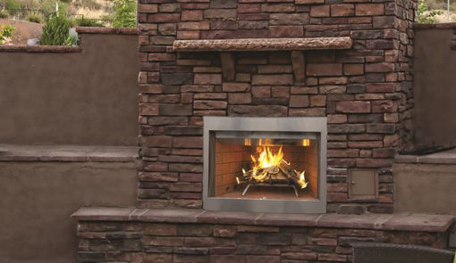 """Picture of Sierra Outdoor 42"""" Fireplace Magnolia 5/25/18"""