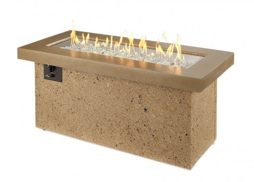 Picture of Brown Key Largo Linear Gas Fire Pit Table