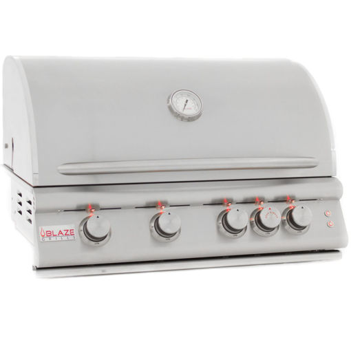 Picture of Blaze 32 Inch 4-Burner LTE Gas Grill With Rear Burner and Built-in Lighting System