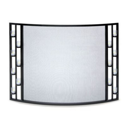 Picture of Candlewood Tea Light Bowed Screen Black