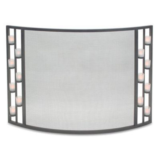 Picture of Candlewood Tea Light Bowed Screen Natural Iron