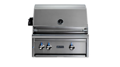"Picture of 27"" PROFESSIONAL BUILT IN GRILL WITH 1 TRIDENT INFRARED BURNER AND 1 CERAMIC BURNER AND ROTISSERIE (L27TR)"