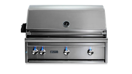"Picture of 36"" PROFESSIONAL BUILT IN GRILL WITH 1 TRIDENT INFRARED BURNER AND 2 CERAMIC BURNERS AND ROTISSERIE (L36TR)"