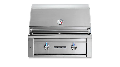 "Picture of 30"" SEDONA BUILT-IN GRILL WITH ROTISSERIE, 1 PROSEAR INFRARED BURNER AND 1 STAINLESS STEEL BURNER (L500PSR)"