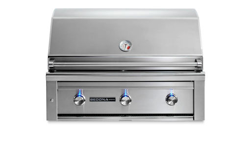 "Picture of 36"" SEDONA BUILT-IN GRILL WITH 1 PROSEAR INFRARED BURNER AND 2 STAINLESS STEEL BURNERS (L600PS)"