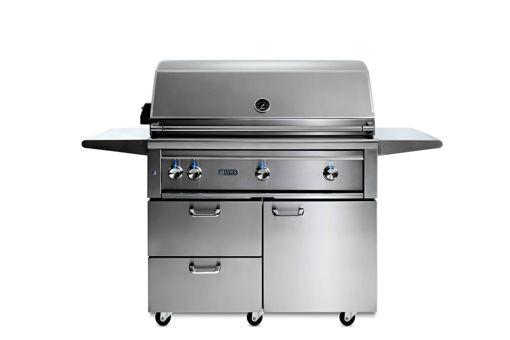 """Picture of 42"""" PROFESSIONAL FREESTANDING GRILL WITH 1 TRIDENT INFRARED BURNER AND 2 CERAMIC BURNERS AND ROTISSERIE (L42TRF)"""