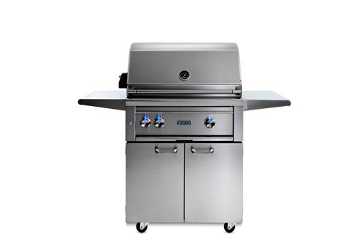"Picture of 30"" PROFESSIONAL FREESTANDING GRILL WITH 1 TRIDENT INFRARED BURNER AND 1 CERAMIC BURNER AND ROTISSERIE (L30TRF)"