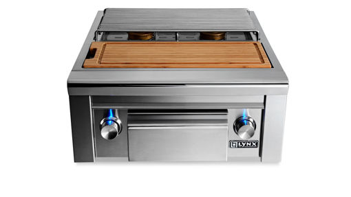 Picture of PROFESSIONAL PREP CENTER WITH DOUBLE SIDE BURNER (LSB2PC-1)
