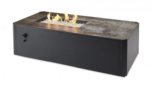 "Picture of ""Trade Show open Box Special"" Kinney Rectangular Gas Fire Pit Table"