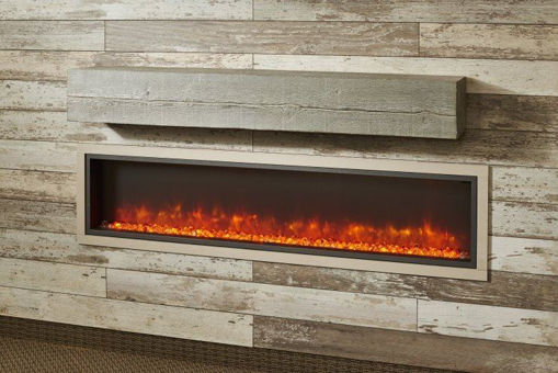 Picture of Non-Combustible Washed Cedar Supercast Wood Mantel