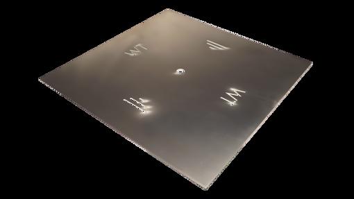 """Picture of 60"""" Square 3/16"""" Aluminum Plate"""