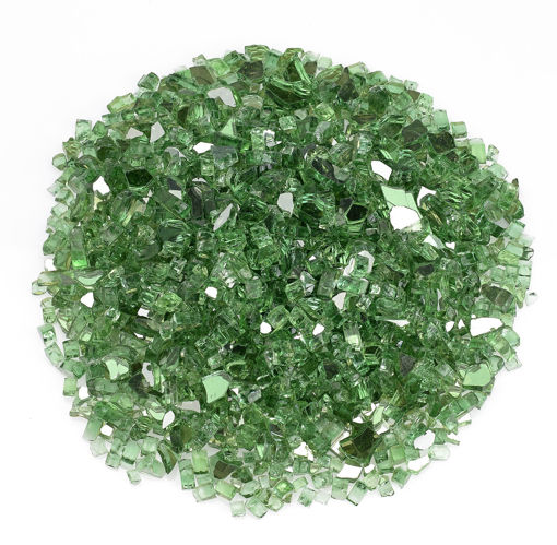 "Picture of 1/4"" Evergreen Reflective Fire Glass"