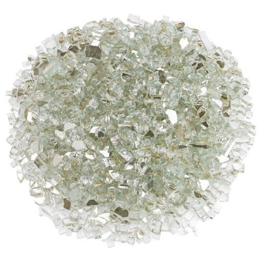 """Picture of 1/4"""" Platinum Reflective Fire Glass"""