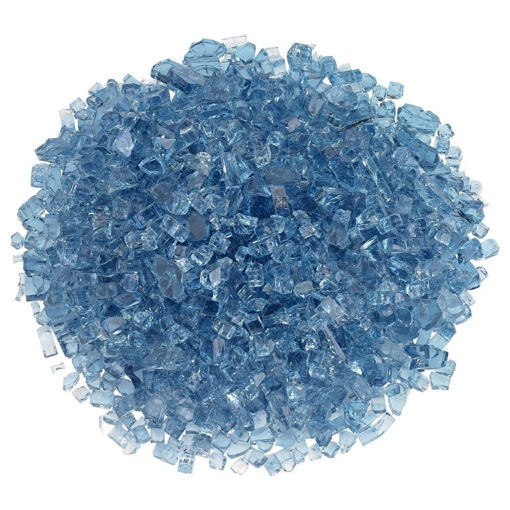 "Picture of 1/4"" Pacific Blue Fire Glass"