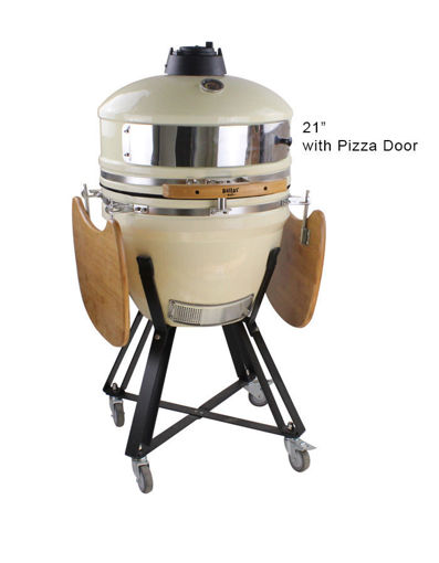 """Dallas Grills 21"""" Egg Style Oven with Pizza Door"""