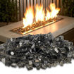 """Picture of 1/2"""" Bronze Reflective Fire Glass"""